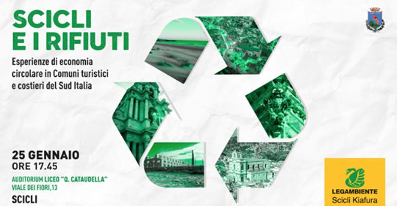 Gestione rifiuti, convegno nazionale di Legambiente a Scicli. Venerdì 25 gennaio
