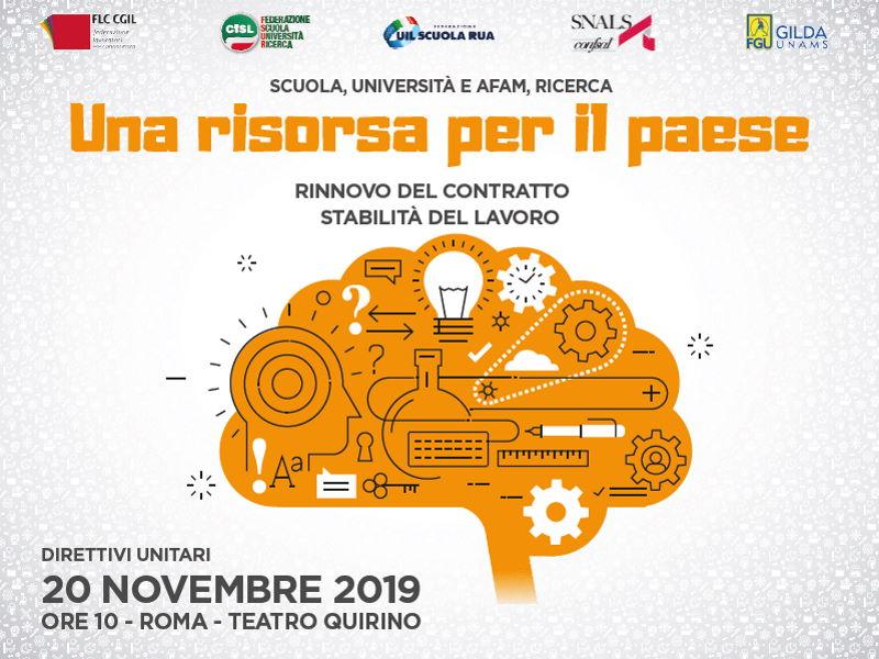 Oggi al Quirino di Roma riunione dei direttivi sindacali unitari
